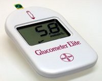 lettura del glucosio con glucometro